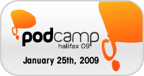 Podcamp Halifax Badge